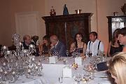 HELENA BONHAM CARTER; MATTHEW FREUD, Freud Museum dinner, Maresfield Gardens. 16 June 2011. <br /> <br />  , -DO NOT ARCHIVE-© Copyright Photograph by Dafydd Jones. 248 Clapham Rd. London SW9 0PZ. Tel 0207 820 0771. www.dafjones.com.