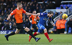 Jack Marriott of Peterborough United in action with Michael Turner of Southend United - Mandatory by-line: Joe Dent/JMP - 03/02/2018 - FOOTBALL - ABAX Stadium - Peterborough, England - Peterborough United v Southend United - Sky Bet League One