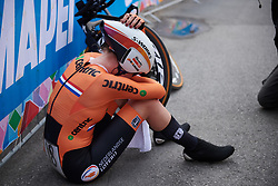Anna van der Breggen (NED) catches her breath after the UCI Road World Championships 2018 - Elite Women's ITT, a 27.7 km individual time trial in Innsbruck, Austria on September 25, 2018. Photo by Sean Robinson/velofocus.com