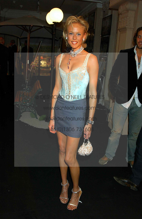 LADY ALEXANDRA SPENCER-CHURCHILL at a party to celebrate 'Made in Italy at Harrods' - a celebration of Italian fashion food and wine, design and interiors, art and photography, cinema and music, beauty and glamour.  The party was held in the Georgian Restaurant at Harrods, Knightsbridge, London on 9th September 2004.<br /><br />PICTURES LICENCED UNTIL 9/3/2004 FOR USE TO PROMOTE THE 'MADE IN ITALY' EVENT/S ONLY.