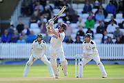 Chris Rogers of Somerset hits four runs during the Specsavers County Champ Div 1 match between Somerset County Cricket Club and Nottinghamshire County Cricket Club at the Cooper Associates County Ground, Taunton, United Kingdom on 22 September 2016. Photo by Graham Hunt.