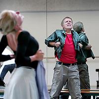 Nederland, Amsterdam,23 augustus 2008..Rudi van Dantzig (Amsterdam, 4 augustus 1933) is een Nederlands choreograaf, balletdanser en schrijver..Rudi van Dantzig tijdens een repetitie van het Nationaal Ballet in de Stopera..Rudi van Dantzig is a Dutch choreographer, ballet dancer and writer..Rudi van Dantzig during a rehearsal of the National Ballet at the Opera.