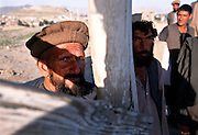 Former mujahideen fighters at a hilltop above Kabul, Afghanistan. 2002