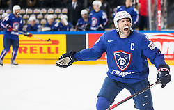 Laurent Meunier of France reacts during the 2017 IIHF Men's World Championship group B Ice hockey match between National Teams of Finland and France, on May 7, 2017 in Accorhotels Arena in Paris, France. Photo by Vid Ponikvar / Sportida
