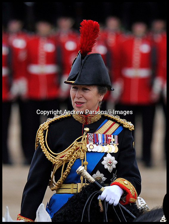 Princess Anne takes part in the Queen's Trooping of the Colour, The Queen's Birthday Parade, on Horse Guards Parade, Saturday June 16, 2012. Photo by Andrew Parsons/i-Images..All Rights Reserved ©Andrew Parsons/i-Images .See Special Instructions