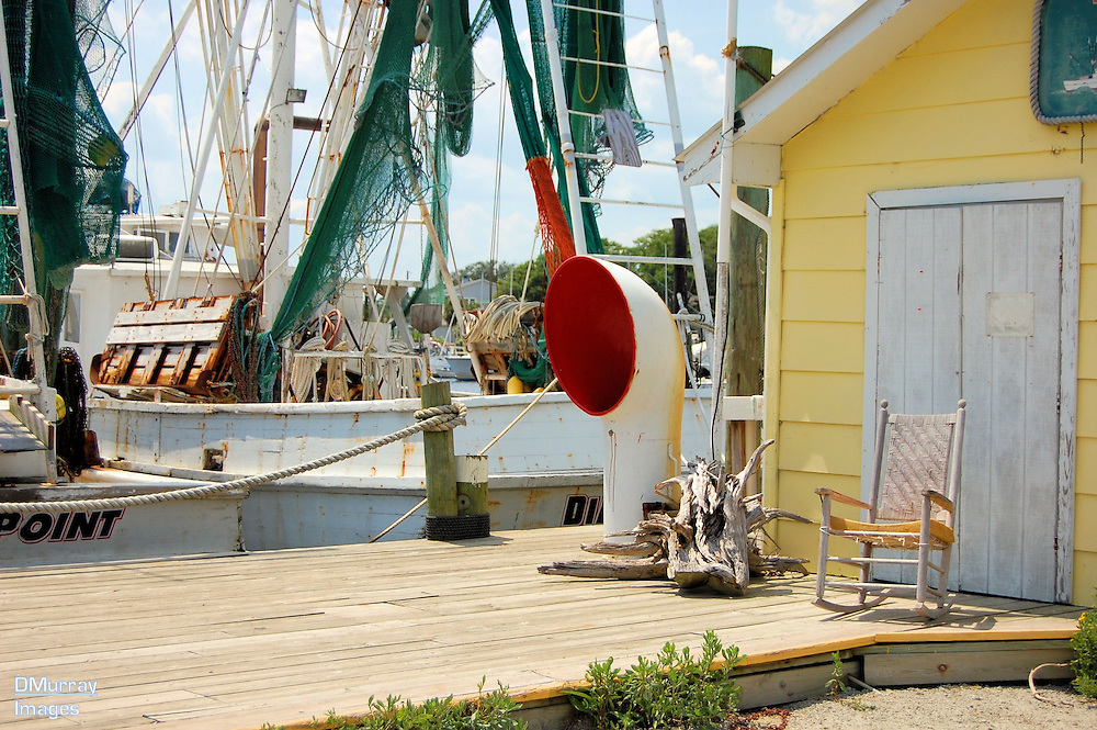 Fishing Boats and Shack,Southport, North Carolina