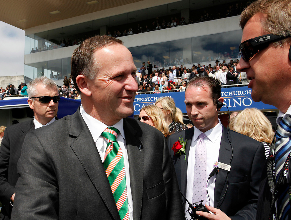 Prime Minister John Key at the New Zealand Cup and Show Week Christchurch Casino NZ Trotting Cup Day, Christchurch, New Zealand, Tuesday, November 08, 2011.  Credit:SNPA / Pam Johnson