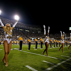 November 13, 2010; Baton Rouge, LA, USA; The LSU Golden Girls perform prior to kickoff of a game between the LSU Tigers and the Louisiana Monroe Warhawks at Tiger Stadium. LSU defeated Louisiana-Monroe 51-0.  Mandatory Credit: Derick E. Hingle