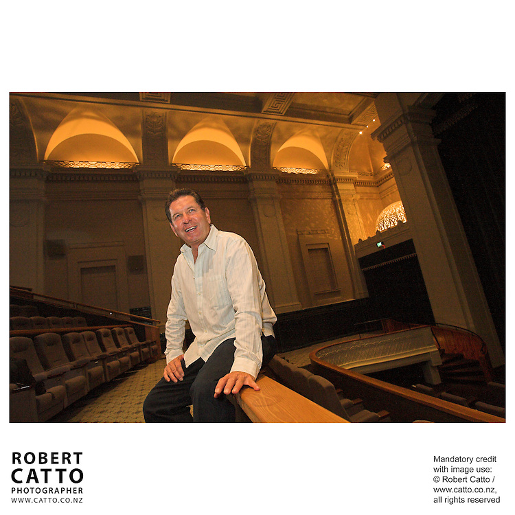 Embassy Theatre manager Kerry Robins is seen here in his last days before leaving the business.  He has been in film distribution since 1989, previously having been a producer on New Zealand films such as Utu.<br />