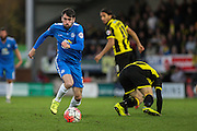 Peterborough United defender Michael Smith on the attack during The FA Cup match between Burton Albion and Peterborough United at the Pirelli Stadium, Burton upon Trent, England on 7 November 2015. Photo by Aaron Lupton.