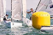 Canadian Sailor Kyle MARTIN (CAN2) and Simone FERRARESE (ITA147), Finn Gold Cup 2015, Takapuna, Auckland New Zealand. 26/11/2015