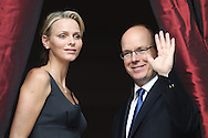 "MONACO - JUNE 23:  HSH Prince Albert II of Monaco and Miss Charlene Wittstock attend ""The feast of St.John""  on June 23, 2011 in Monaco, Monaco.  (Photo by Tony Barson/WireImage)"