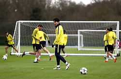 Tottenham Hotspur's Son Heung-Min during the training session at Tottenham Hotspur Football Club Training Ground, London.