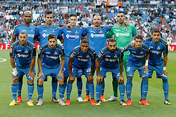 23.05.2015, Estadio Santiago Bernabeu, Madrid, ESP, Primera Division, Real Madrid vs FC Getafe, 38. Runde, im Bild Getafe's team photo // during the Spanish Primera Division 38th round match between Real Madrid CF and Getafe FCat the Estadio Santiago Bernabeu in Madrid, Spain on 2015/05/23. EXPA Pictures &copy; 2015, PhotoCredit: EXPA/ Alterphotos/ Acero<br /> <br /> *****ATTENTION - OUT of ESP, SUI*****