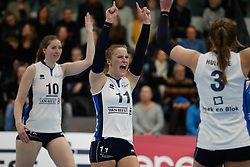 20180303 NED: Eredivisie Sliedrecht Sport - VC Sneek, Sliedrecht <br />Carlijn Ghijssen- Jans (10) of Sliedrecht Sport, Ana Rekar (11) of Sliedrecht Sport <br />©2018-FotoHoogendoorn.nl / Pim Waslander
