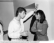 Damian Aspinall and Lulu Blacker. Drinks party given by andrew de Candole. Lowndes Sq. London. 12/7/83. film 83490f30.<br />© Copyright Photograph by Dafydd Jones 66 Stockwell Park Rd. London SW9 0DA Tel 020 7733 0108 www.dafjones.com