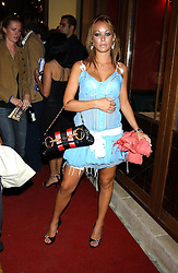 MISS ELLIE SHEPHERD at a party to celebrate the opening of Ishtar - a new mediterainian restaurant in Crawford Street, London W1 on 15th September 2004.<br /><br />NON EXCLUSIVE - WORLD RIGHTS