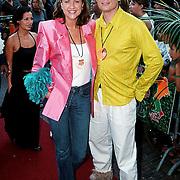 Premiere Austin Powers Amsterdam, Pauline Huizinga en man Wouter Keijser