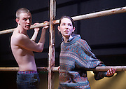 Yen<br /> by Anna Jordan <br /> at The Royal Court Theatre, London, Great Britain <br /> 22nd January 2016 <br /> Press Photocall <br /> <br /> Jake Davies as Bobbie<br /> <br /> Alex Austin as Hench <br /> <br /> Sian Brecken as Maggie<br /> <br /> Annes Elwy as Jenny <br /> <br /> Photograph by Elliott Franks <br /> Image licensed to Elliott Franks Photography Services