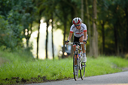 Kasia Niewiadoma (Rabo Liv) jumps clear of the peloton and in closing in on van Dongen at the 103 km Stage 1 of the Boels Ladies Tour 2016 on 30th August 2016 in Tiel, Netherlands. (Photo by Sean Robinson/Velofocus).