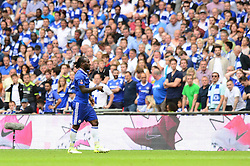 Victor Moses of Chelsea walks off the pitch after receiving a second yellow card for diving   - Mandatory by-line: Dougie Allward/JMP - 27/05/2017 - FOOTBALL - Wembley Stadium - London, England - Arsenal v Chelsea - Emirates FA Cup Final