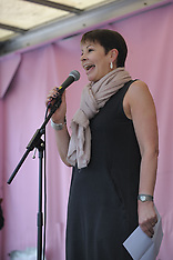 Caroline Lucas MP addresses Extinction Rebellion crowd, London, 22 April 2019