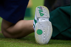 LONDON, ENGLAND - Monday, June 23, 2008: The Fila shoe of a ball-boy during day one of the Wimbledon Lawn Tennis Championships at the All England Lawn Tennis and Croquet Club. (Photo by David Rawcliffe/Propaganda)
