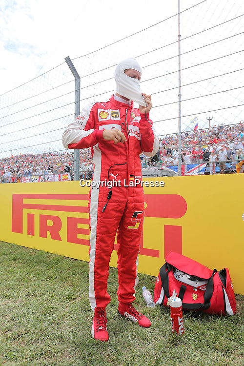 &copy; Photo4 / LaPresse<br /> 26/07/2015 Budapest, Hungary<br /> Sport <br /> Grand Prix Formula One Hungary 2015<br /> In the pic: Sebastian Vettel (GER) Scuderia Ferrari SF15-T