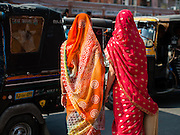 Two women in saris (India)