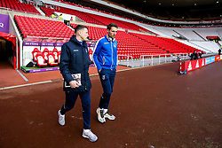 Ollie Clarke and Alex Rodman of Bristol Rovers arrive at The Stadium of Light - Mandatory by-line: Robbie Stephenson/JMP - 15/12/2018 - FOOTBALL - Stadium of Light - Sunderland, England - Sunderland v Bristol Rovers - Sky Bet League One
