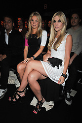 Left to right, MARISSA MONTGOMERY and TINSLEY MORTIMER at the Issa fashion show part of the London fashion Week 2009 held at Somerset House, The Strand, London on 20th September 2009.