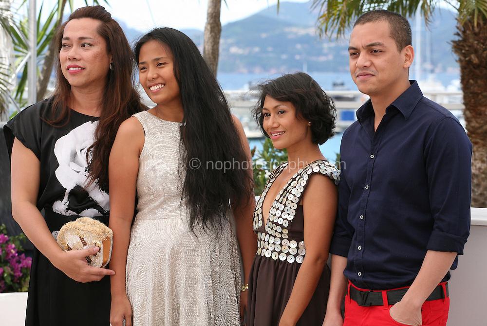 Angeli Bayani, Hazel Orencio, Moira and Archie Alemania at the Norte, Hangganan Ng Kasaysayan Film Photocall Cannes Film Festival On Friday 24th May May 2013