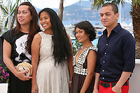 Angeli Bayani, Hazel Orencio, Moira and Archie Alemania at the Norte, Hangganan Ng Kasaysayan Film Photocall Cannes Film Festival On Friday 24th May May 2013