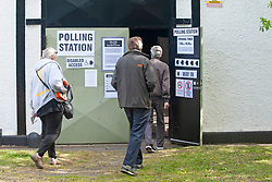 © Licensed to London News Pictures. 02/05/2019.<br /> Swanley,UK. Voting at the Kent Army cadet hall in Swanley, Kent. Polling stations are open across England and Northern Ireland for Local elections today. Photo credit: Grant Falvey/LNP