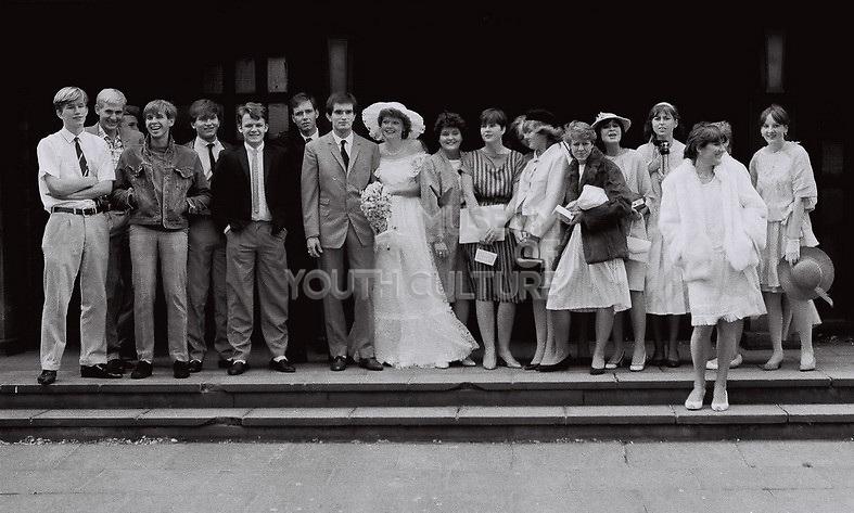 Wedding shot, London, UK, 1983