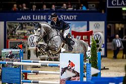 KRIEG Niklas (GER), Quater past<br /> Preis der WIRmachenDRUCK GmbH<br /> Int. jumping competition against the clock (1.50 m) - CSI3* Grosse Tour<br /> Braunschweig - Classico 2020<br /> 06.03.20<br /> © www.sportfotos-lafrentz.de/Stefan Lafrentz