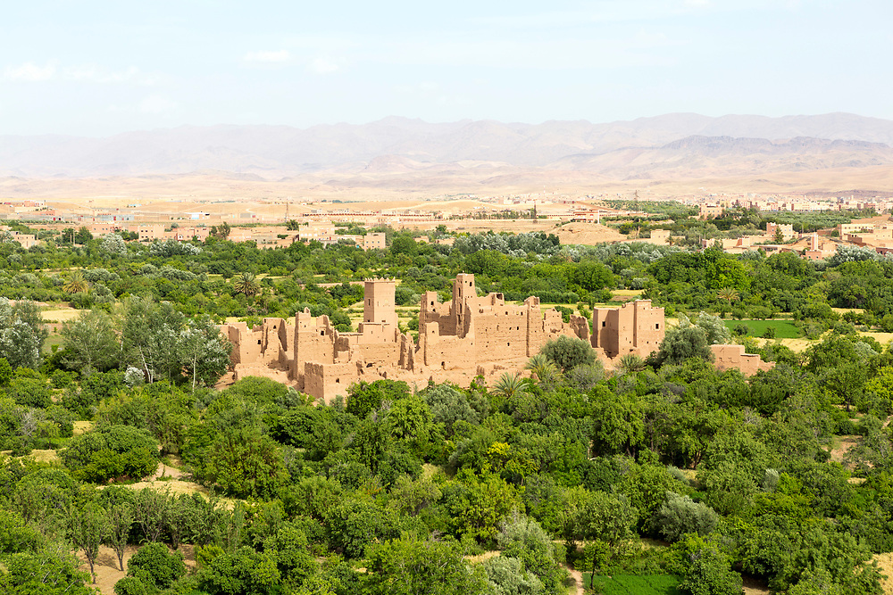 KELAAT M'GOUNA, MOROCCO JUNE 12TH 2015 - Landscape view from Kasbah Itran, Dades Valley, Kelaat Mgouna, Morocco