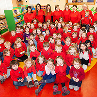 Pupils and Staff of Ennis Montessori at the presentation of the Certificate of Validation to the School