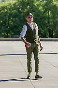 """104-Year-Young Grandpa Has More Style Than You<br /> <br /> Fashion is something that changes with time, but certain fashions are timeless. Take this elderly gentleman, Günther Krabbenhöft, While some other sources incorrectly reported this man's age as 104, the grandpa himself says on his FB profile that the Internet has """"doubled"""" his age. Various other sources say he's between 68-70 years old; the fact is, modern day hipsters could take a few lessons from this guy.<br /> """"I find that I dress pretty normal. I've always dressed like this. When I went to work, when I go to exercise. I want to look at myself with joy. It's also always a reflection of my inner self,"""" said Günther Krabbenhöft to Björn Akstinat of the Berlin street style blog www.schickaa.com. <br /> ©Denis Kooné/Exclusivepix Media"""