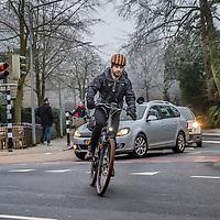 Nederland, Hilversum, 18 januari 2017.<br />Giel Claessens rijdt een supersnelle e-bike: hij mag er niet mee op het fietspad maar op de weg begrijpen ze hem niet<br /><br /><br />Foto: Jean-Pierre Jans