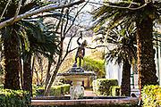 Fountain in a historic garden in Charleston, South Carolina.