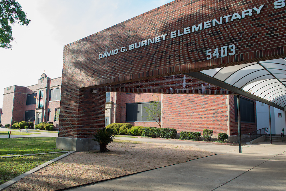 David G. Burnet Elementary School photographed April 5, 2013. The school was a recipient of funds from the 2007 Bond.