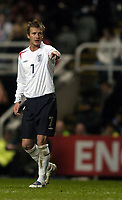 Fotball<br /> VM-kvalifisering<br /> England v Azerbaijan<br /> St. James` Park - Newcastle<br /> 30. mars 2005<br /> Foto: Digitalsport<br /> NORWAY ONLY<br /> England skipper David Beckham
