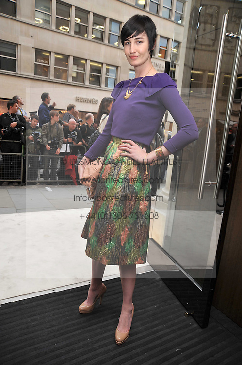 ERIN O'CONNOR at a reception hosted by Vogue and Burberry to celebrate the launch of Fashions Night Out - held at Burberry, 21-23 Bond Street, London on 10th September 2009.