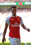 Mesut Ozil in action during the FA Community Shield match between Chelsea and Arsenal at Wembley Stadium, London, England on 2 August 2015. Photo by Michael Hulf.