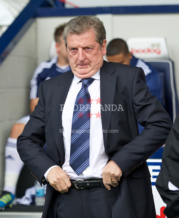 WEST BROMWICH, ENGLAND - Sunday, August 28, 2011: West Bromwich Albion's manager Roy Hodgson before the Premiership match against Stoke City at the Hawthorns. (Pic by David Rawcliffe/Propaganda)