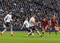 Football - 2017 / 2018 Premier League - Tottenham Hotspur vs. Liverpool<br /> <br /> Philippe Coutinho (Liverpool FC)  tries his luck at goal at Wembley Stadium.<br /> <br /> COLORSPORT/DANIEL BEARHAM