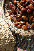 A basket with organic dates