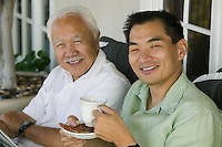 Father and Son Drinking Coffee