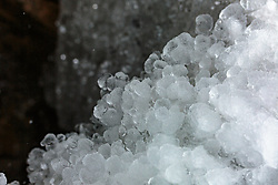 THEMENBILD - das Detail einer Eiswand, aufgenommen am 03. Februar 2018, Kaprun, Österreich // the detail of an ice wall on 2018/02/03, Kaprun, Austria. EXPA Pictures © 2018, PhotoCredit: EXPA/ Stefanie Oberhauser